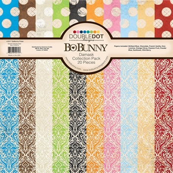 BoBunny 12 x 12 DAMASK DOUBLE DOT Collection Pack 7310174