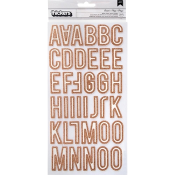 Crate Paper ROSE GOLD HERE & THERE Thickers Alphabet Stickers 344343