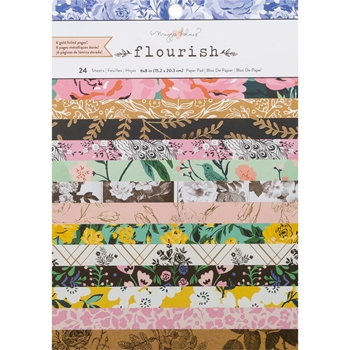 Crate Paper FLOURISH 6 x 8 Card Making Paper Pad 344406