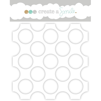 Create A Smile HUGE POLKA DOTS Stencil scs25