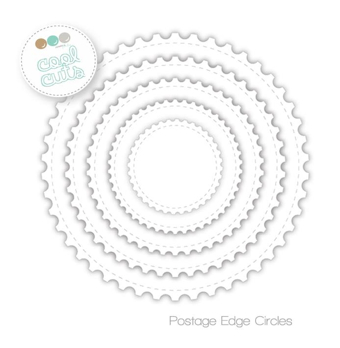 Create A Smile POST EDGE CIRCLES Cool Cuts Die dcs16 zoom image