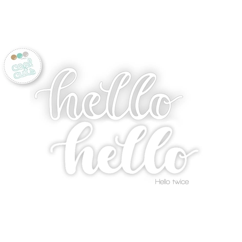 Create A Smile HELLO TWICE Cool Cuts Die dcs13 Preview Image