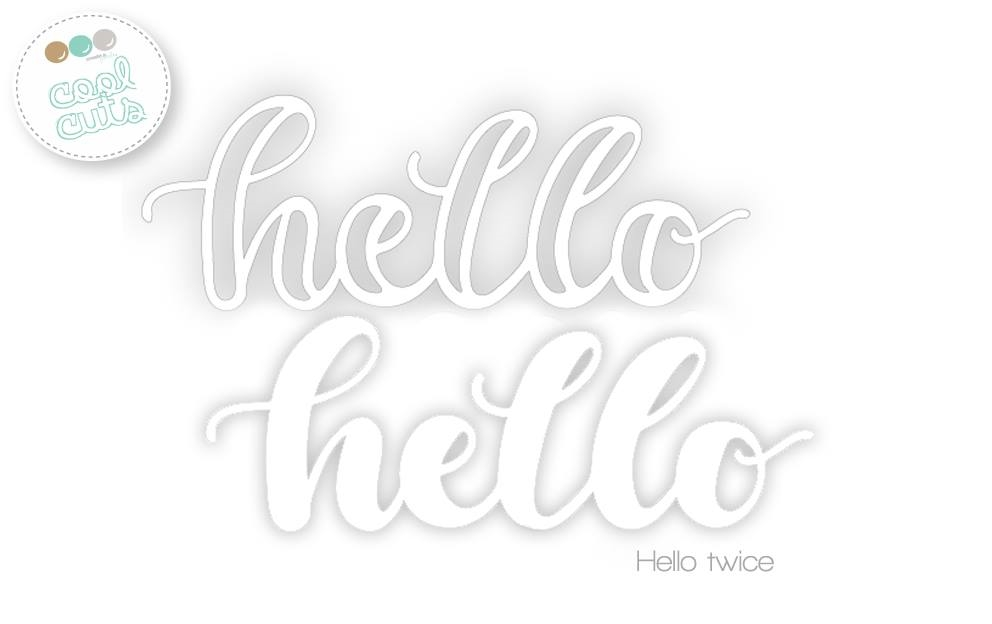 Create A Smile HELLO TWICE Cool Cuts Die dcs13 zoom image