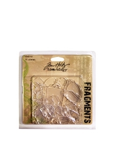 Tim Holtz Idea-ology FRAGMENTS CHARMS Clear Tile Tags  TH92749 *