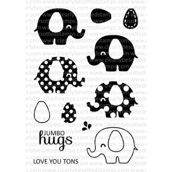 Clearly Besotted JUMBO HUGS Clear Stamp Set