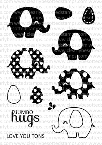 Clearly Besotted JUMBO HUGS Clear Stamp Set zoom image