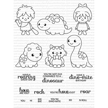 Clearly Besotted YOU'RE DINO-MITE Clear Stamp Set