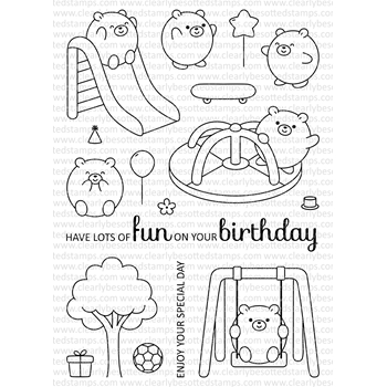Clearly Besotted PLAYGROUND PALS Clear Stamp Set