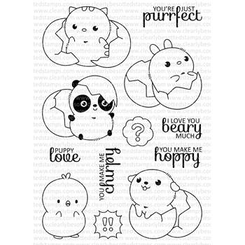 Clearly Besotted JUST HATCHED Clear Stamp Set