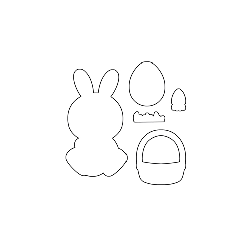 Clearly Besotted HOPPY EASTER Die Set * Preview Image