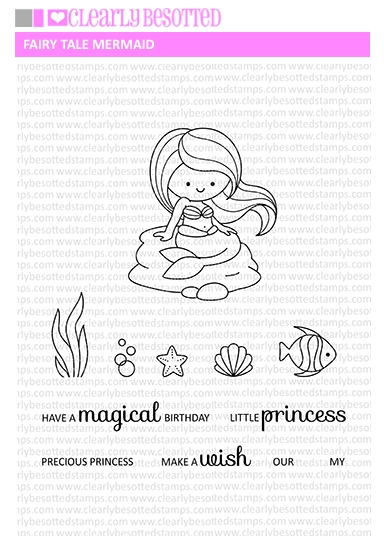 Clearly Besotted FAIRY TALE MERMAID Clear Stamp Set zoom image