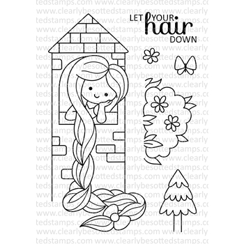 Clearly Besotted FAIRY TALE MAIDEN Clear Stamp Set