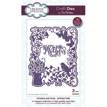 Creative Expressions SPRING TIME Sue Wilson Frames and Tags Collection Die Set ced4338