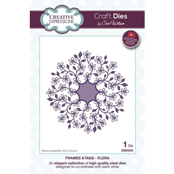 Creative Expressions FLORA Sue Wilson Frames and Tags Collection Die Setced4343