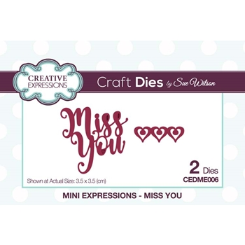 Creative Expressions MISS YOU Sue Wilson Mini Expressions Die Set cedme006
