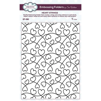 Creative Expressions HEART STRINGS Sue Wilson Embossing Folder ef090