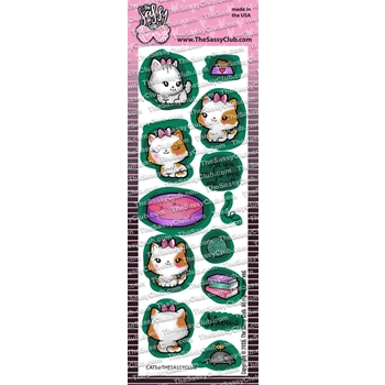 The Sassy Club CATS Clear Stamps tscl121