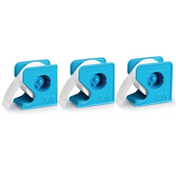 3M Micropore SET OF THREE 0.5 INCH PAPER TAPE WITH DISPENSER 3MMICRO3