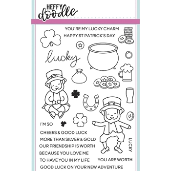 Heffy Doodle LUCKY FRIENDS Clear Stamps hfd0021