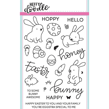 Heffy Doodle HUNNY BUNNY BOO Clear Stamps hfd0025