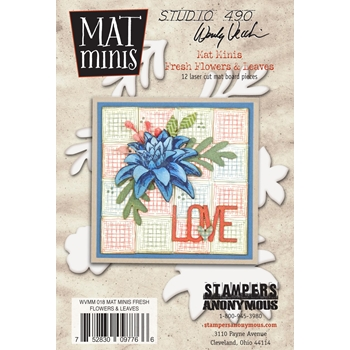 Wendy Vecchi Mat Minis FLOWERS AND LEAVES Studio 490 WVMM018