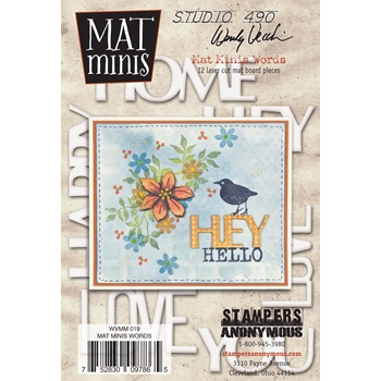 Wendy Vecchi Mat Minis WORDS Studio 490 WVMM019