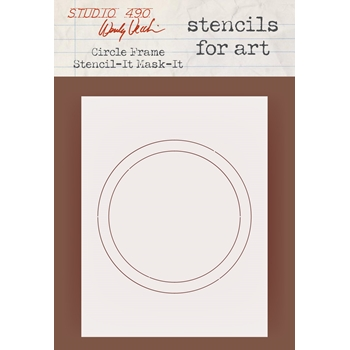 Wendy Vecchi Stencils For Art CIRCLE FRAME Studio 490 WVSFA059