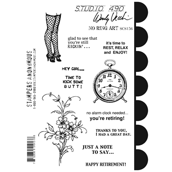 Wendy Vecchi Cling Rubber Stamps NO RING ART Studio 490 SCS156