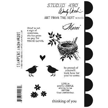 Wendy Vecchi Cling Rubber Stamps ART FROM THE NEST Studio 490 SCS155*