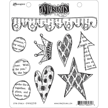 Dyan Reaveley STAR STRUCK Cling Stamp DYR62318*