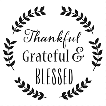 The Crafter's Workshop SMALL THANKFUL 6x6 Template tcw799s