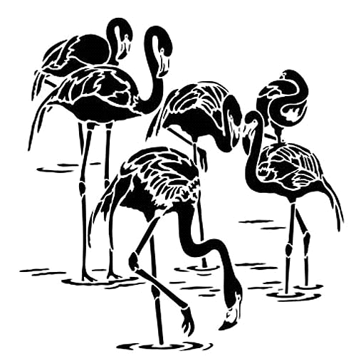 The Crafter's Workshop SMALL FLAMINGOS 6x6 Template tcw784s zoom image