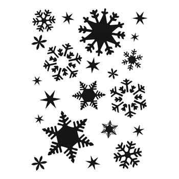 The Crafter's Workshop FLAKES A7 Template tcw2162