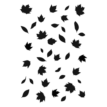 The Crafter's Workshop FALLING LEAVES A7 Template tcw2164