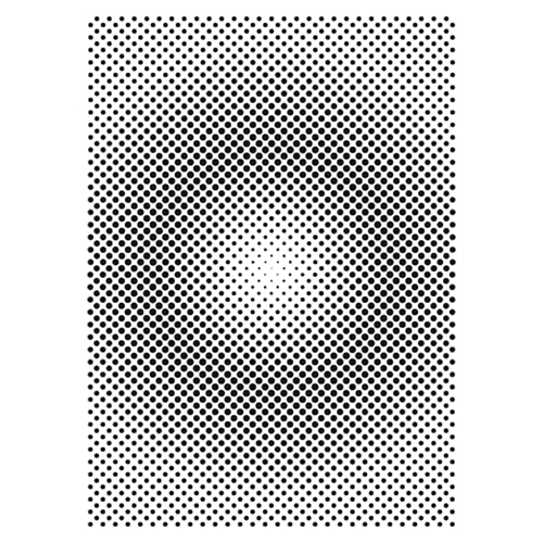 The Crafter's Workshop HALFTONE VORTEX A7 Template tcw2167 Preview Image