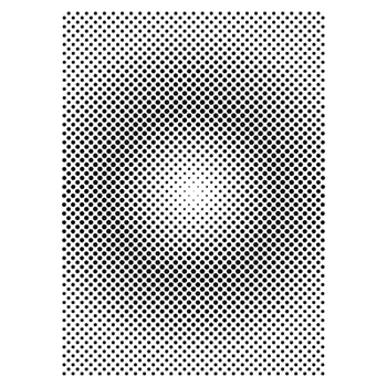 The Crafter's Workshop HALFTONE VORTEX A7 Template tcw2167
