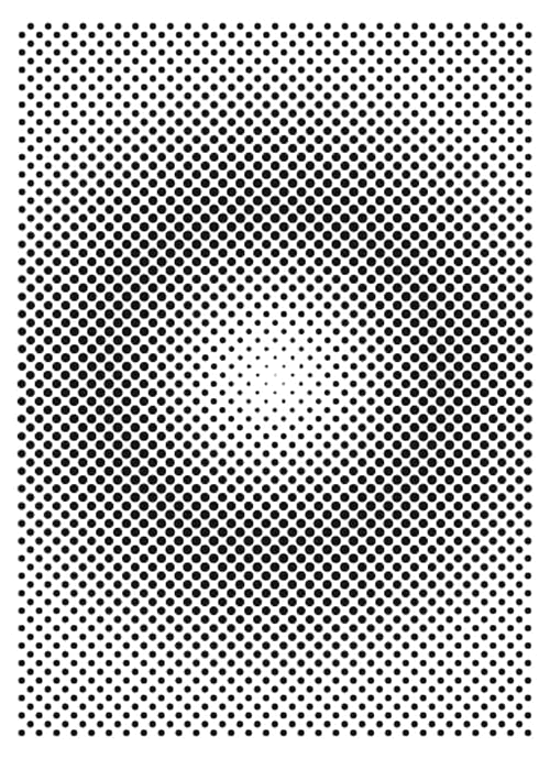 The Crafter's Workshop HALFTONE VORTEX A7 Template tcw2167 zoom image
