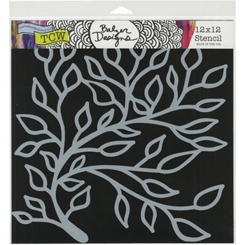 The Crafter's Workshop SOLEMN BRANCH 12x12 Stencil tcw761