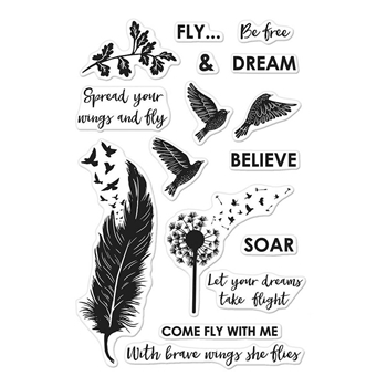 Hero Arts Clear Stamps COME FLY WITH ME CM245