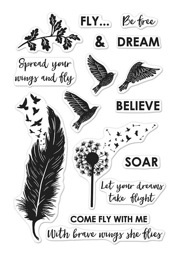 Hero Arts Clear Stamps COME FLY WITH ME CM245 zoom image