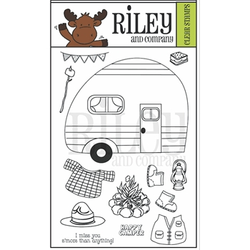 Riley and Company Clear Stamp DRESS UP CAMPING RCLR16