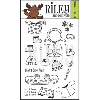 Riley and Company Clear Stamp DRESS UP WINTER 2 RCLR13