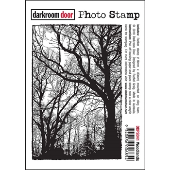Darkroom Door Cling Stamp WOODLANDS Photo Rubber UM ddps041