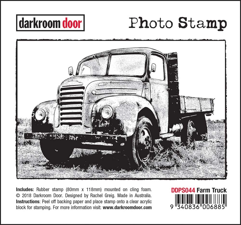 Darkroom Door Cling Stamp FARM TRUCK Photo Rubber UM ddps044 zoom image