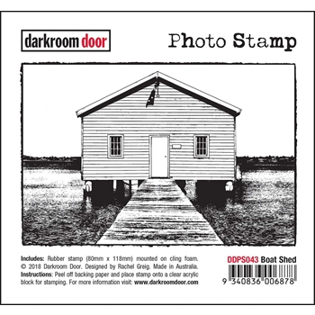 Darkroom Door Cling Stamp BOAT SHED Photo Rubber UM ddps043