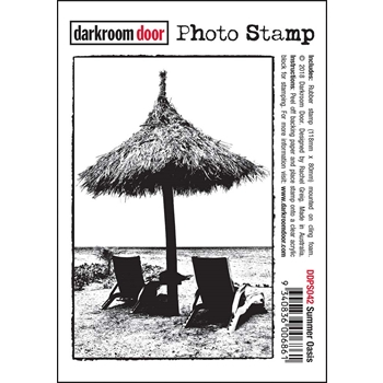 Darkroom Door Cling Stamp SUMMER OASIS Photo Rubber UM ddps042