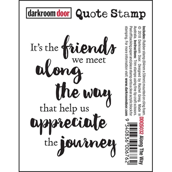 Darkroom Door Cling Stamp ALONG THE WAY Quote Stamp ddqs032