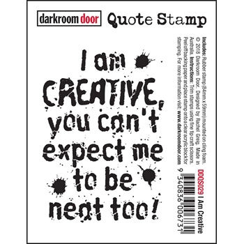 Darkroom Door Cling Stamp I AM CREATIVE Quote Stamp ddqs029