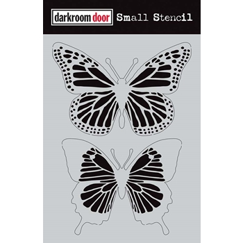 Darkroom Door BUTTERFLIES Small Stencil ddss014