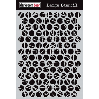 Darkroom Door POLKA DOTS Large Stencil ddls007
